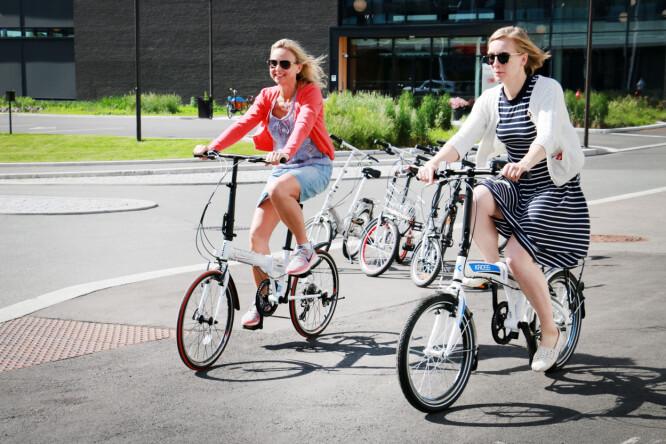 <strong>SLIK HAR VI TESTET:</strong> Vi har syklet, brettet opp og ned utallige ganger - og hatt med syklene i bil, på tog og t-bane. Foto: Ole Petter Baugerød Stokke