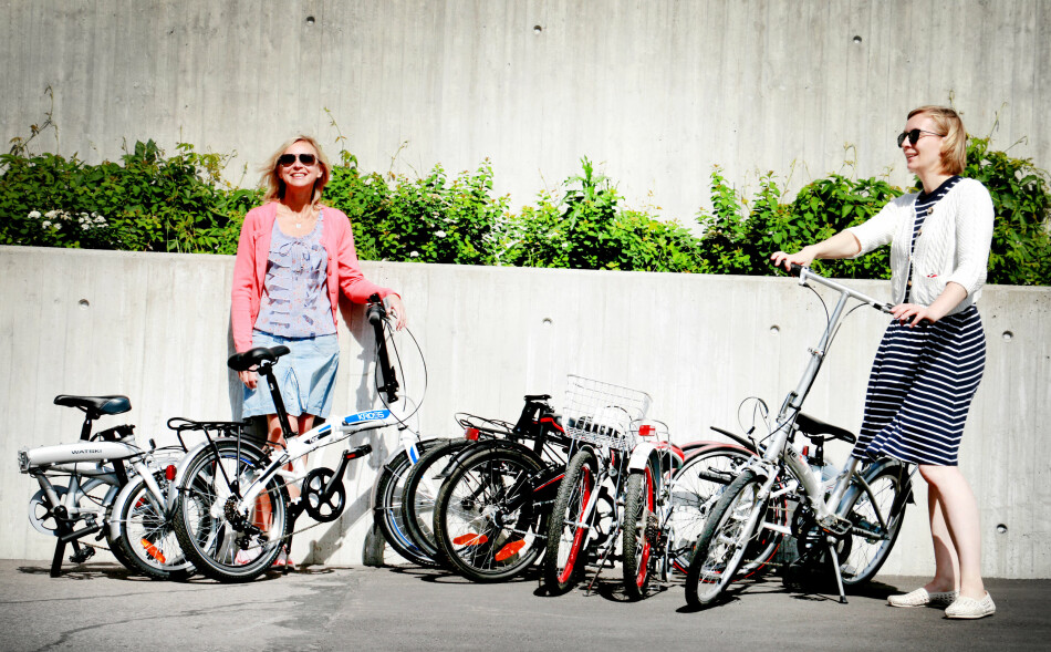 SAMMENLEGGBARE SYKLER: Vi har testet seks sammenleggbare sykler fra 1.590 kroner til 3.699 kroner. Det er store forskjeller både på hvor gode de er å sykle på - og hvor sammenleggbare de egentlig er ... Foto: Ole Petter Baugerød Stokke