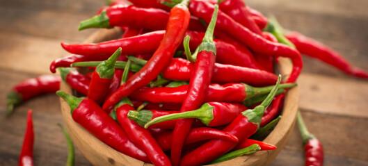 Chili kan øke blodsirkulasjonen din