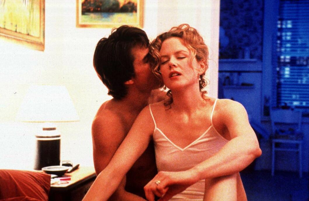 HOT: Tom Cruise og Nicole Kidman hadde vært et par i ni år, da de spilte inn de pikante scenene i den erotiske thrilleren «Eyes Wide Shut» i 1999. Før dette hadde de spilt mot hverandre i to filmer. Foto: NTB Scanpix