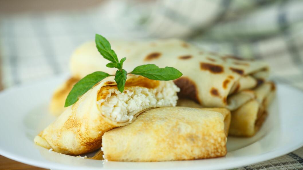 COTTAGE CHEESE: Det finnes uendelig mange måter du kan bruke cottage cheese på. Hva med å ha den i middagen?  Foto: Peredniankina - Fotolia