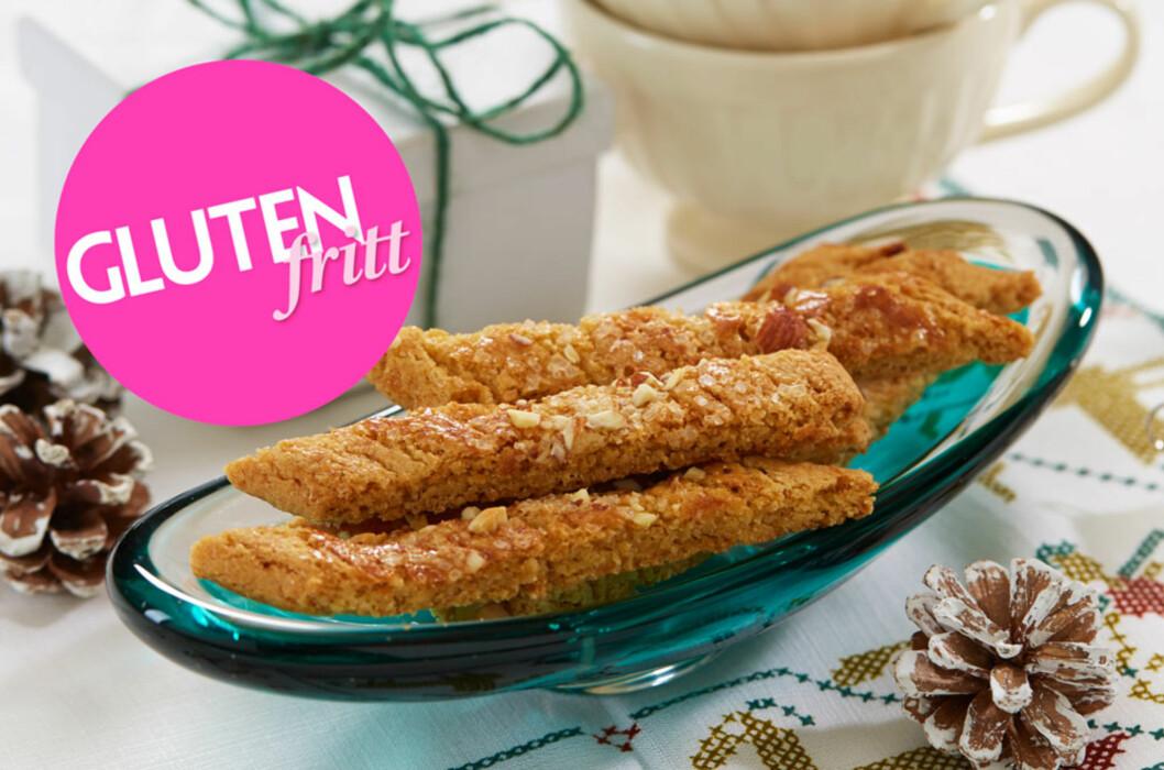 GLUTENFRIE BRUNE PINNER: Enkle å bake og gode å spise! Foto: Synøve Dreyer