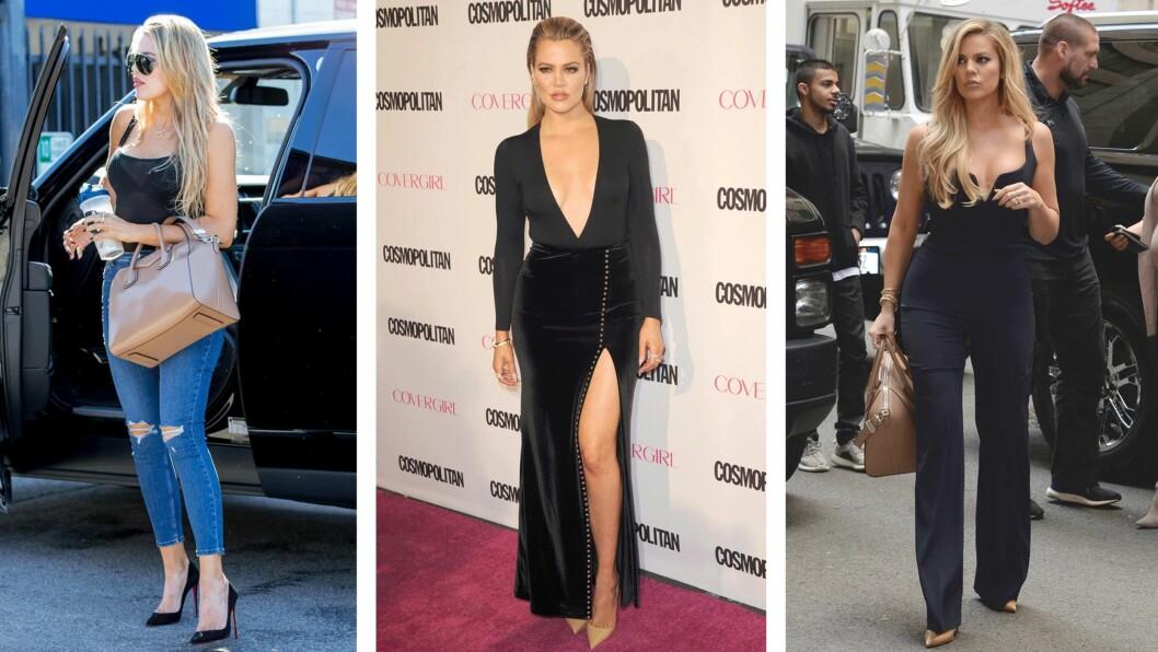KHLOE KARDASHIAN: Stjel stilen til den 31 år gamle Kardashian-søsteren på 1-2-3 lengre ned i saken! Foto: Scanpix