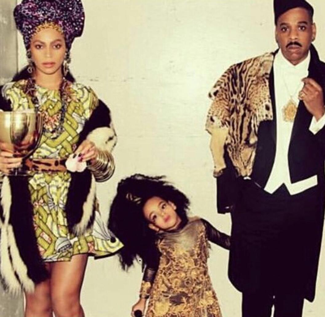 11 ÅRS FORSKJELL: Det mektige superparet Beyoncé Knowles (34) og Jay Z (45) giftet seg i 2008. De har datteren Blue Ivy Carter (3) sammen. Foto: NTB Scanpix