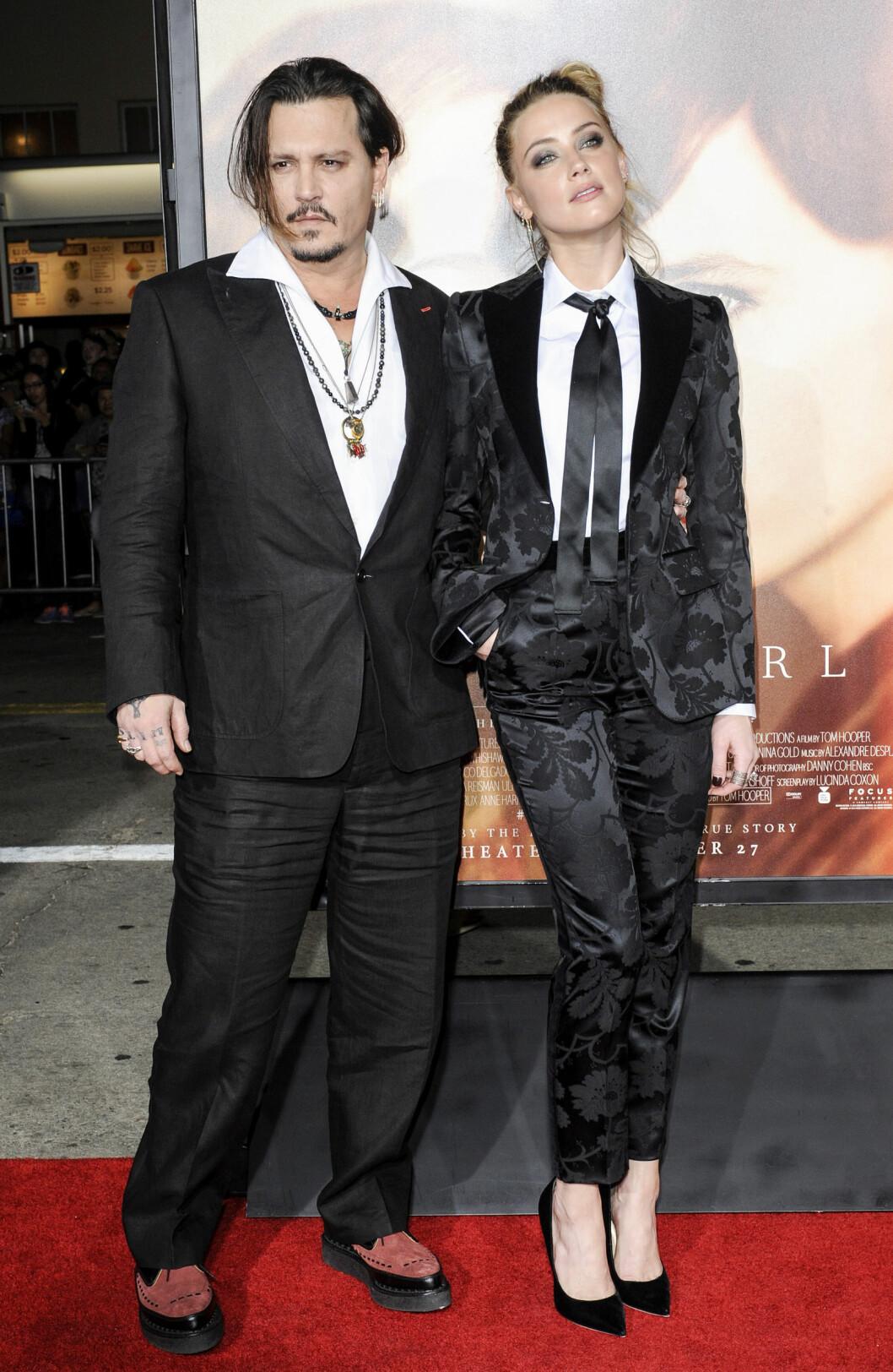23 ÅRS FORSKJELL: Skuespillerparet Johnny Depp (52) og Amber Heard (29) giftet seg i mars. Foto: NTB Scanpix