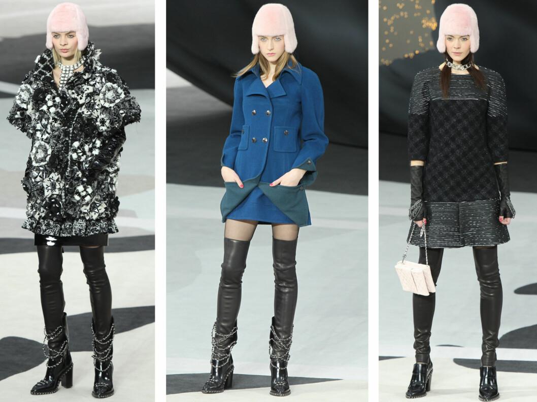 NY LUETREND? Chanels nyeste luekolleksjon minner mistenkelig om barneluene vi gikk i på 1970 og 80-tallet. Foto: All Over Press