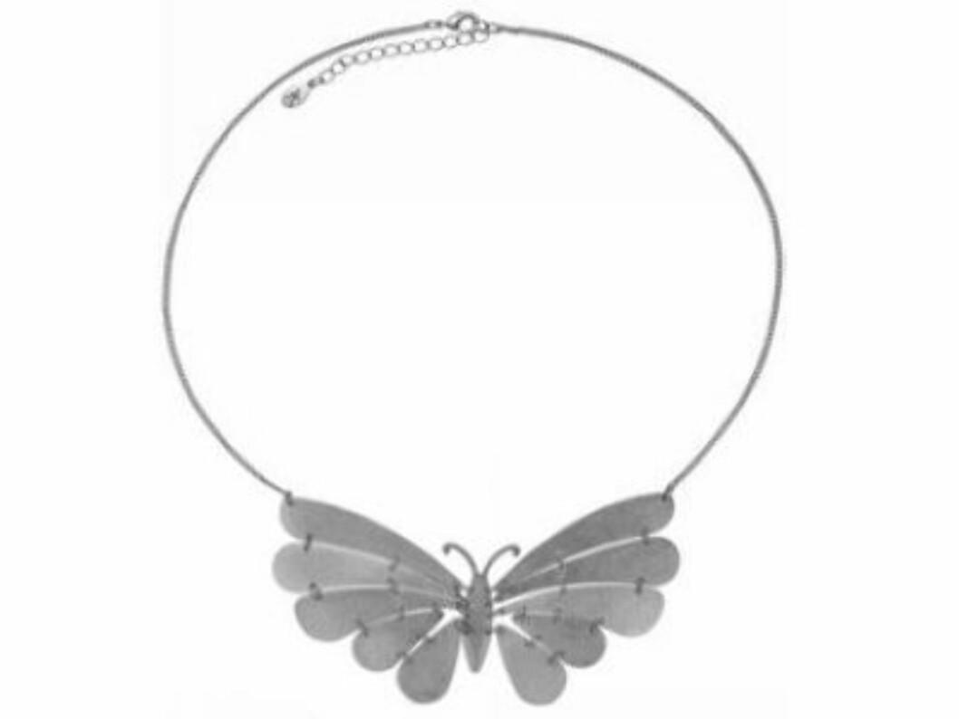 Halskjede med sommerfugl (kr.130/Accessorize). Foto: Produsenten