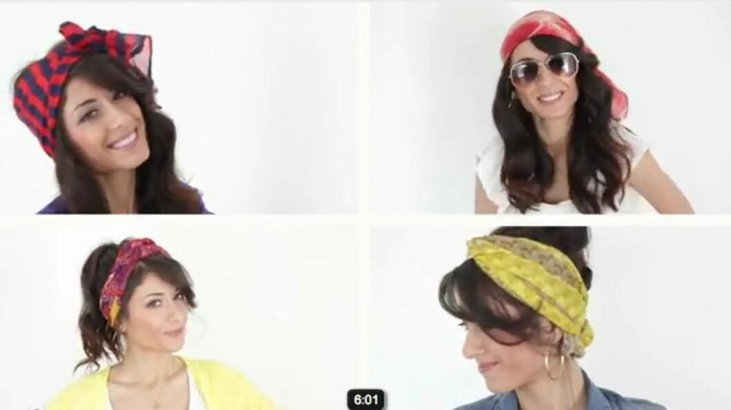 SE VIDEO: Jentene i Luxy Hair demonstrerer noen måter du kan bruke skjerfet på i videoen under.  Foto: Luxy Hair