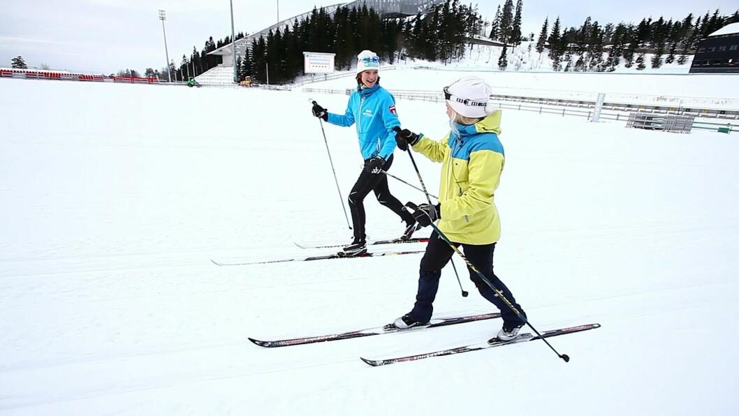 BLI SOM BJØRGEN: Langrenn er ypperlig trening. Kanskje du skal melde deg på et skikurs i vinter? Foto: Per Ervland