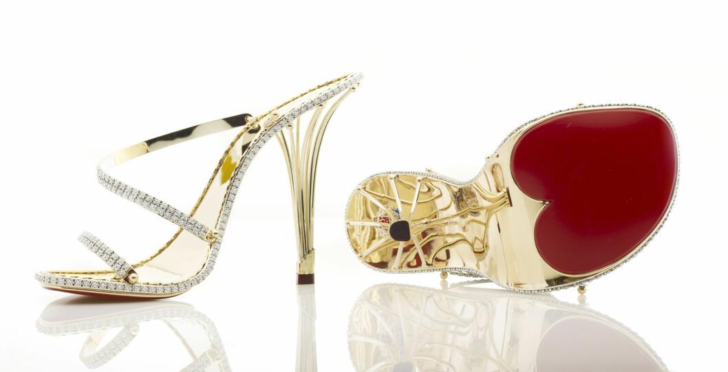 <strong>PYNTET MED DIAMANTER:</strong> The eternal diamond stiletto er verdens dyreste sko...