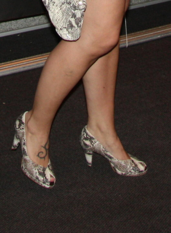 Veske og sko var i slangeskinn. Foto: Tone Ra Pedersen