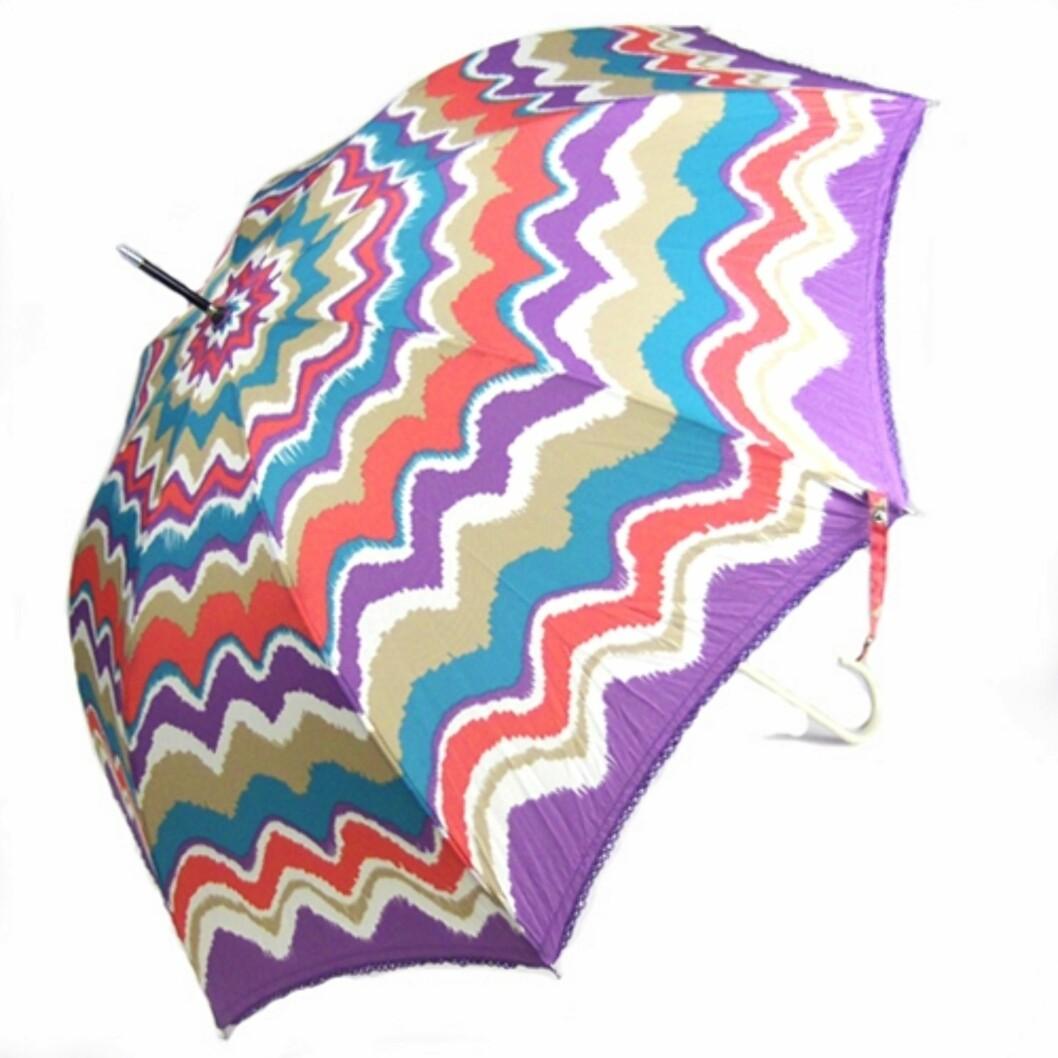 Stor og fargerik (ca kr 450/umbrellas.net). Foto: Produsent
