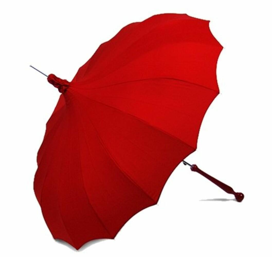 Til ekstra fine anledninger og andre hverdagsprinsesser (ca kr 800/umbrellas.net). Foto: Produsent