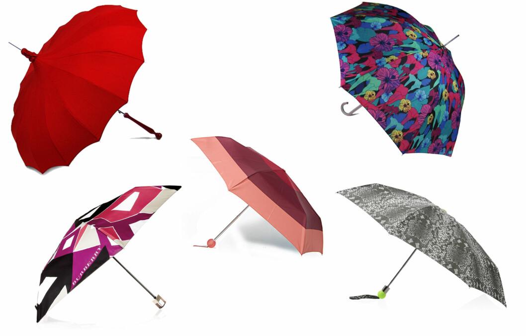 La paraplyen være et tilbehør du gjerne drar fram. I bildekarusellen finner du priser og informasjon. Foto: Produsentene