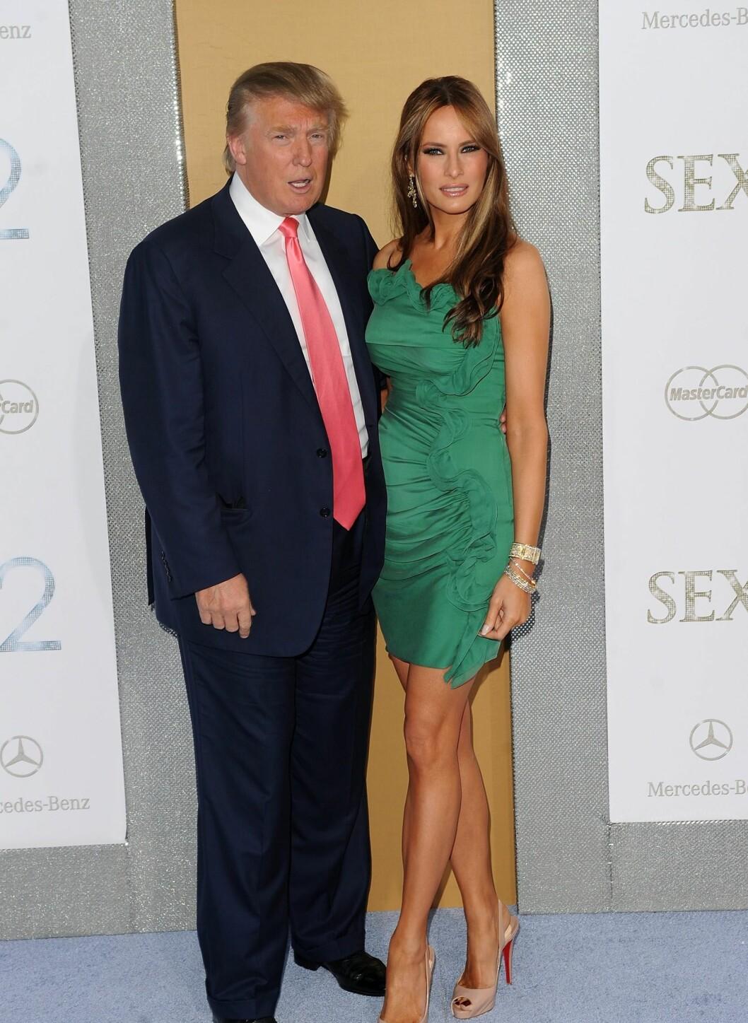 Donald Trump and Melania Trump var også på premieren i Radio City Music Hall i New York City.   Foto: All Over Press