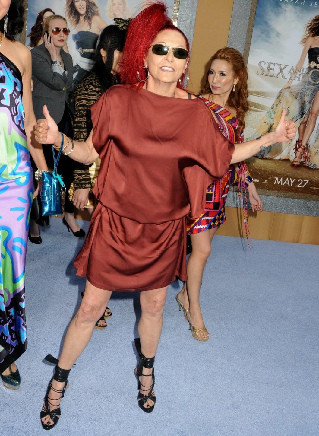 <strong>Og helt til slutt:</strong> Designeren og stylisten Patricia Field. Damen som har fått mye av æren for at Sex og Singelliv-serien har fått den statusen den har blant motebevisste kvinner.  Foto: All Over Press