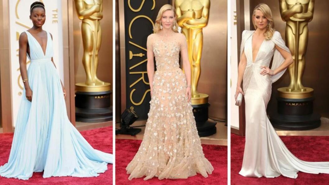 VAKRE I 2014: Luptia Nyong'o, Cate Blanchett og Kate Hudson er blant stjernene som briljerte på den røde løperen i år.  Foto: All Over Press