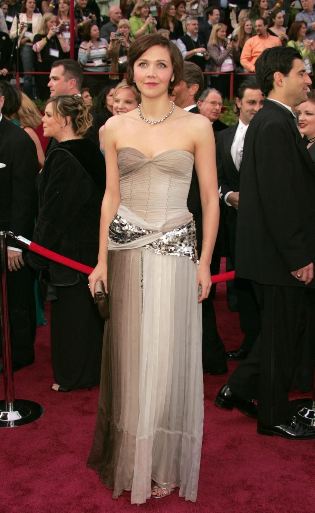 I stroppeløs Prada-kjole på Oscar i 2005. Foto: All Over Press
