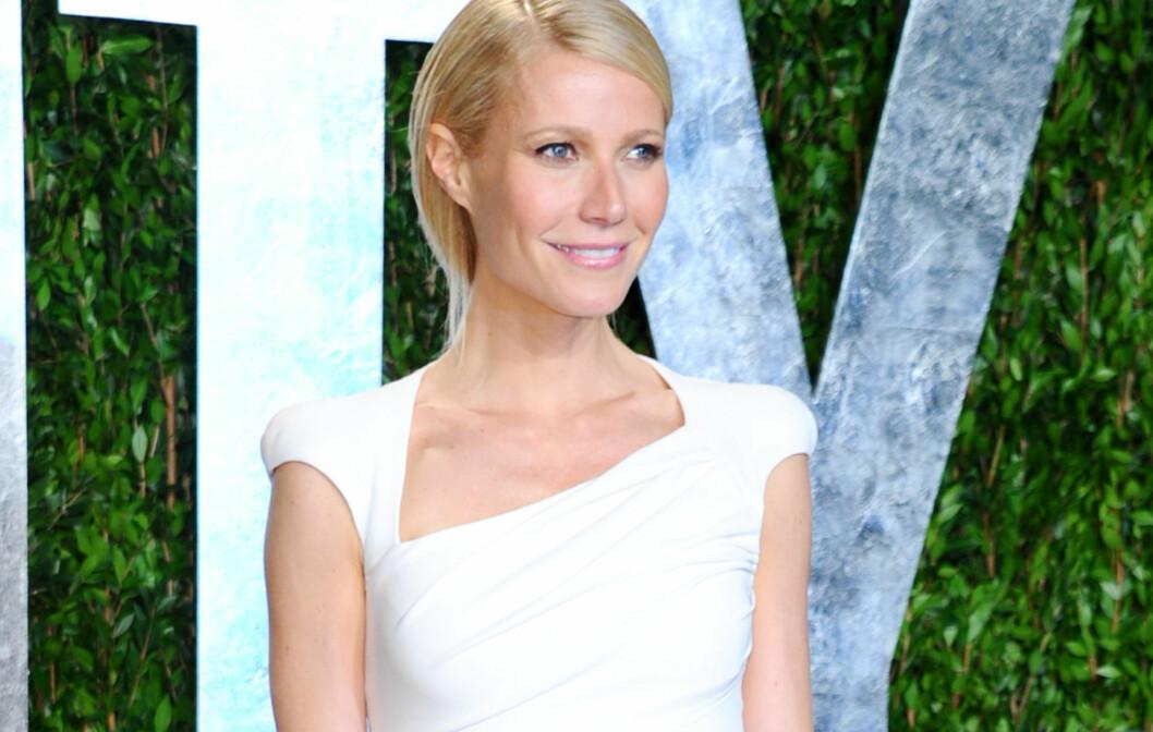 <strong>NATTENS DRONNING:</strong> Ingen over og ingen ved siden av Gwyneth Paltrow. Se helfigurbilde under. Men hun er ikke den eneste som får kjoleskryt. Foto: All Over Press