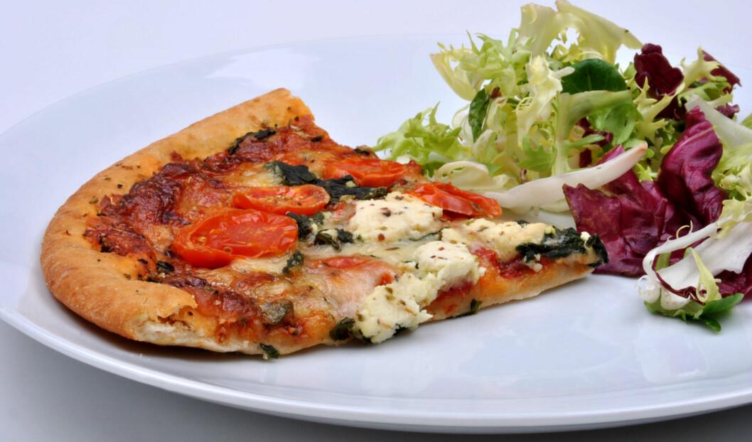 SNADDERMAT: Vegetarpizza, vegetarpasta, vegetarpai ... Å droppe kjøtt er ikke SÅ vanskelig! Foto: Colourbox