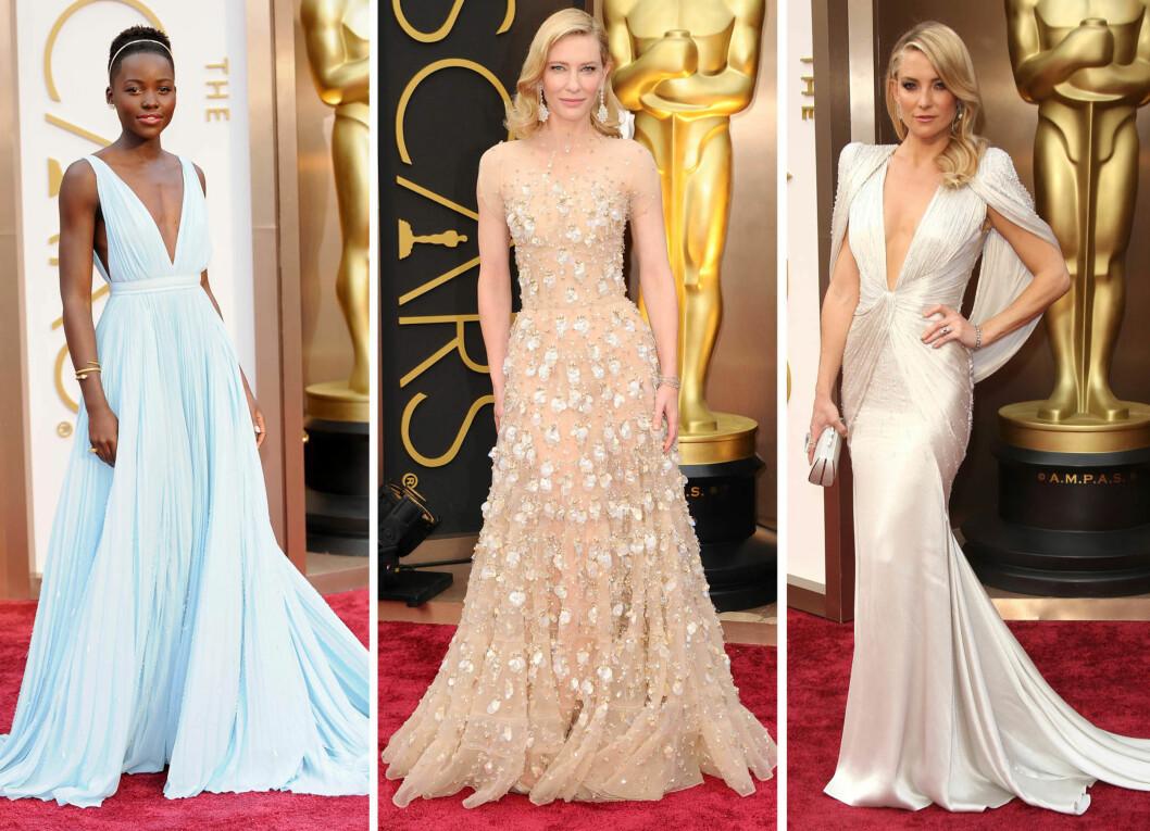 BEST KLEDDE: Lupita Nyong'o, Cate Blanchett og Kate Hudson er ekspertens topp tre fra Oscar 2014. Foto: All Over Press