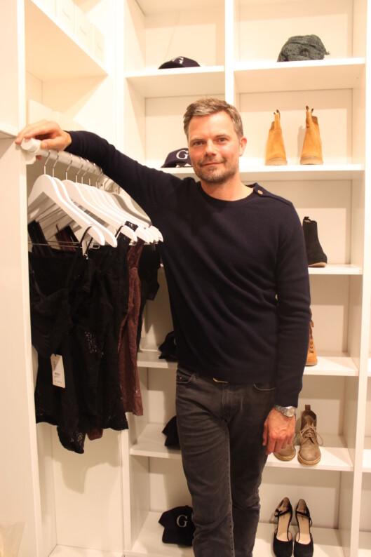 <strong>PÅ ÅPNING:</strong> Frans Truelsen, som er grunnlegger og en av eierne av Ganni, var i Norge i forbindelse med butikkåpningen i Oslo.  Foto: Adéle Cappelen Blystad