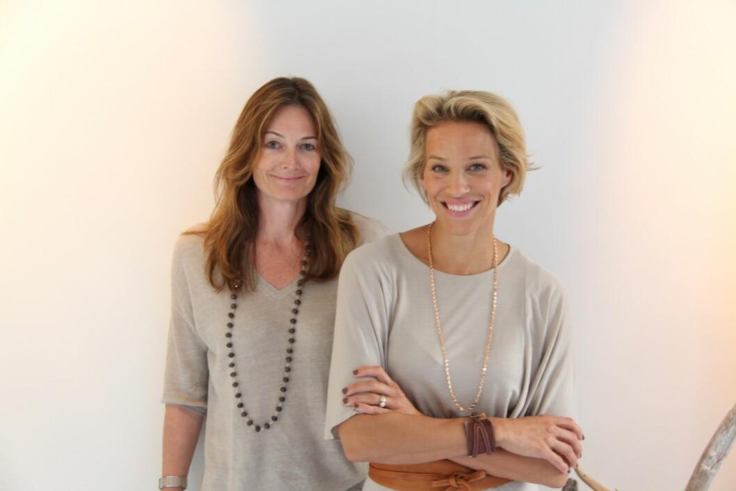DAMENE BAK EMMA S.: Emma Wiklund (til høyre) og Nora Larssen startet hudpleieserien Emma S. i 2009. Produktene selges blant annet på Vita i Norge.