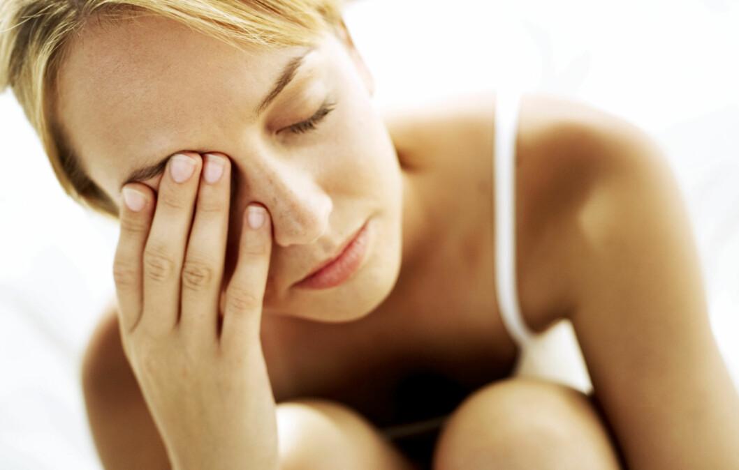 HAR DU FÅTT SKJØNNHETSSØVNEN DIN? Grunnen til at poser under øynene oppstår etter dårlig søvn, er blant annet at huden i nærheten av øynene er svært tynn, bare omtrent 0,5 millimeter. Foto: Thinkstock.com