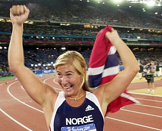 OL-GULL: I 2000 vant Trine Hattestad Gull i spydkast under OL i Sydney. Foto: NTB Scanpix