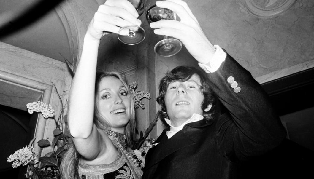 STJERNEPAR: Et av Hollywoods heiteste par var utvilsomt Tate og Polanski. Her er de på en premiere i 1969, samme år som skuespilleren måtte bøte med livet. Foto: AP/ NTB scanpix