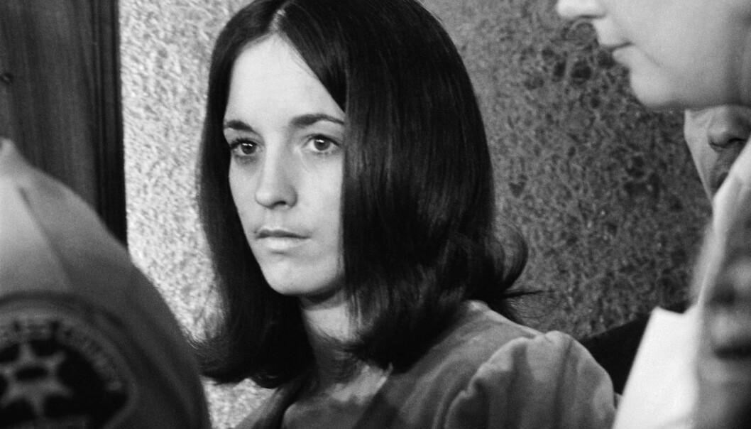 DRAPSKVINNE: Susan Atkins var blant dem som i 1969 brøt seg inn og drepte fem mennesker i Los Angeles. Hun står blant annet direkte ansvarlig for drapet på Sharon Tate. Foto: NTB scanpix