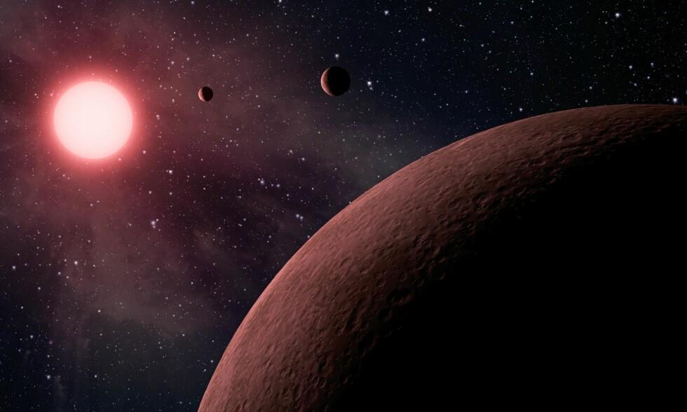 JORDLIGNENDE: NASA har i kveld innkalt til en pressekonferanse der de vil presentere funn gjort av Kepler-teleskopet. Sist NASA innkalte til en lignende pressekonferanse, var i juni da de hadde funnet 219 nye eksoplaneter, hvorav 10 var «jordliknende». Bildet illustrerer noen av disse planetene. Foto: JPL-Caltech/NASA/AP/Scanpix