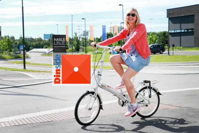 """YESS 20"""" CLASSIC: Det blir rett og slett vanskelig å sykle når girene ikke fungerer og den ene pedalen ikke vil sitte på ... Nei, nei nei ... Foto: Ole Petter Baugerød Stokke"""