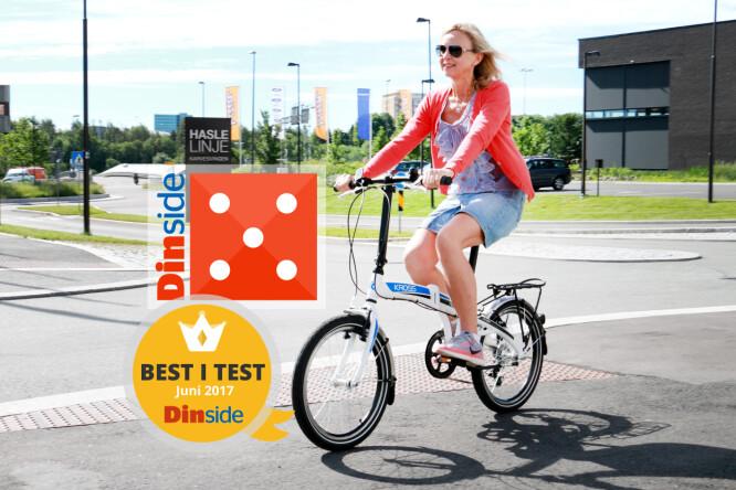 KROSS FLEX 2.0: Lettsyklet, komfortabel og enkel å folde opp og ned. Denne er best i test! Foto: Ole Petter Baugerød Stokke.