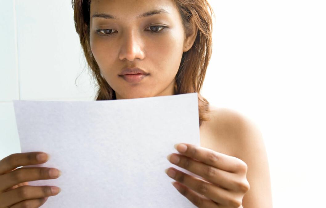 DÅRLIG NYTT?: Ikke bekymre deg unødig selv om gynekologen forteller deg om celleforandringer. Foto: Colourbox
