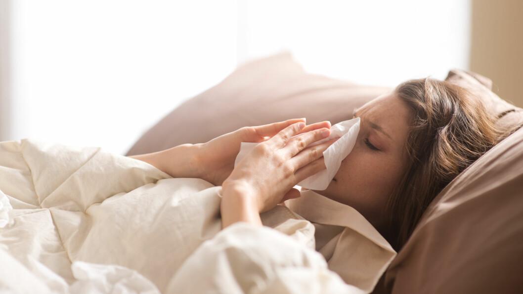 INFLUENSA: Heldigvis viser overvåkingen så langt i sesongen at influensaaktiviteten nådde et foreløpig toppunkt i romjulen. Foto: Shutterstock / Stokkete