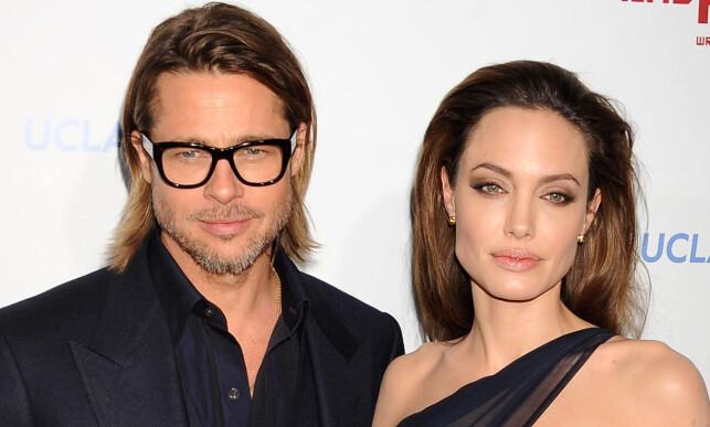 GIFTET SEG: Brad Pitt og Angelina Jolie var kjærester i 12 år, men var gift i kun to år. Foto: NTB scanpix