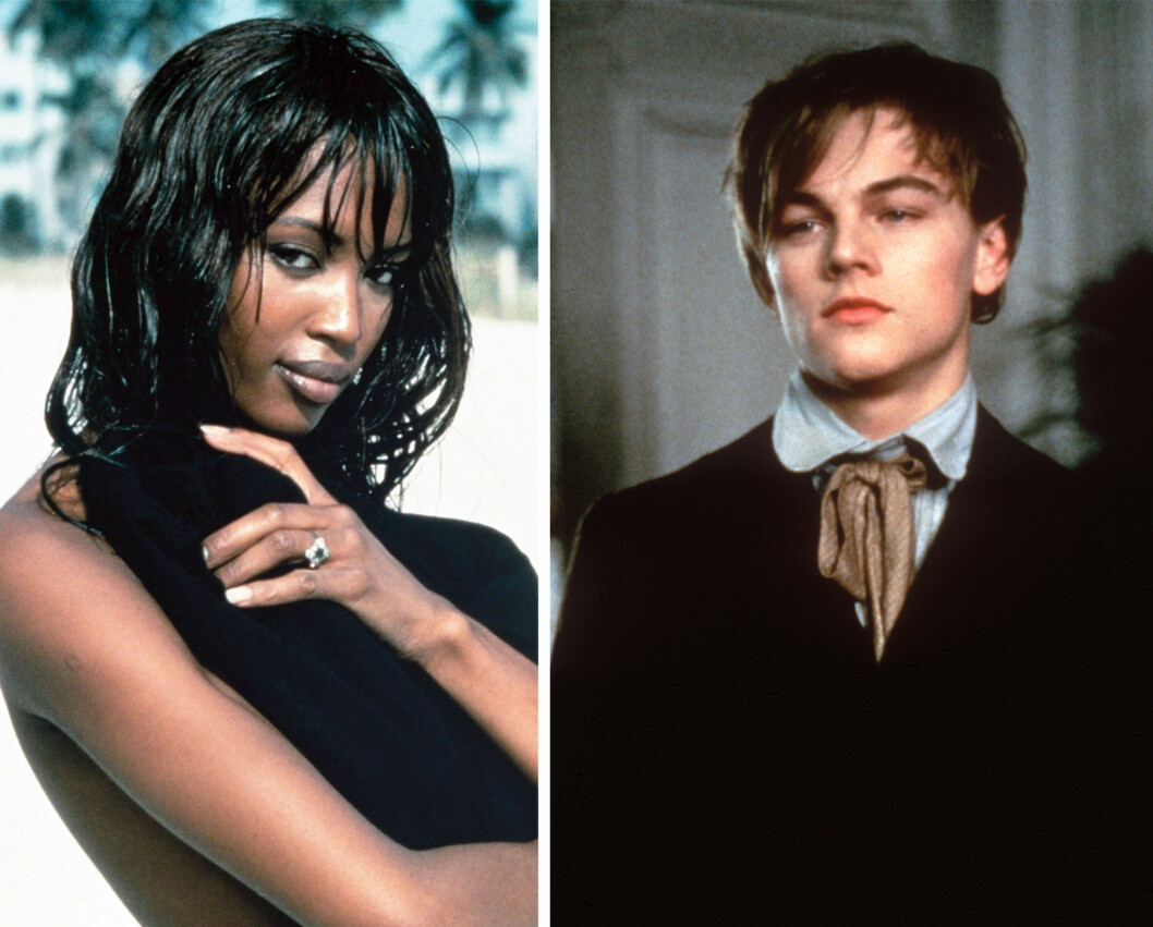 ANNO 1995: Slik så superkjendisene Leonardo Dicaprio og Naomi Campbell ut da de to datet hverandre på midten av 90-tallet. Foto: NTB Scanpix
