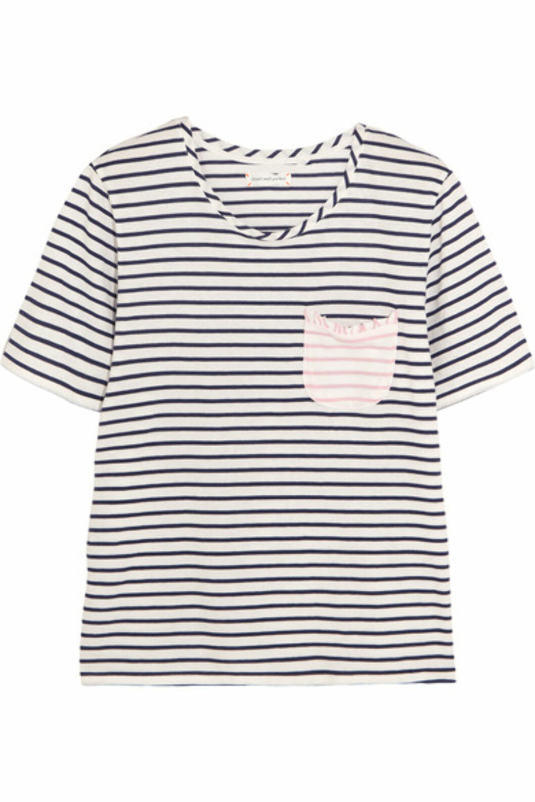 T-skjorte fra Chinti And Parker via Net-a-porter.com | kr 1131 | https://www.net-a-porter.com/no/en/product/738193/Chinti_and_Parker/striped-cotton-jersey-t-shirt