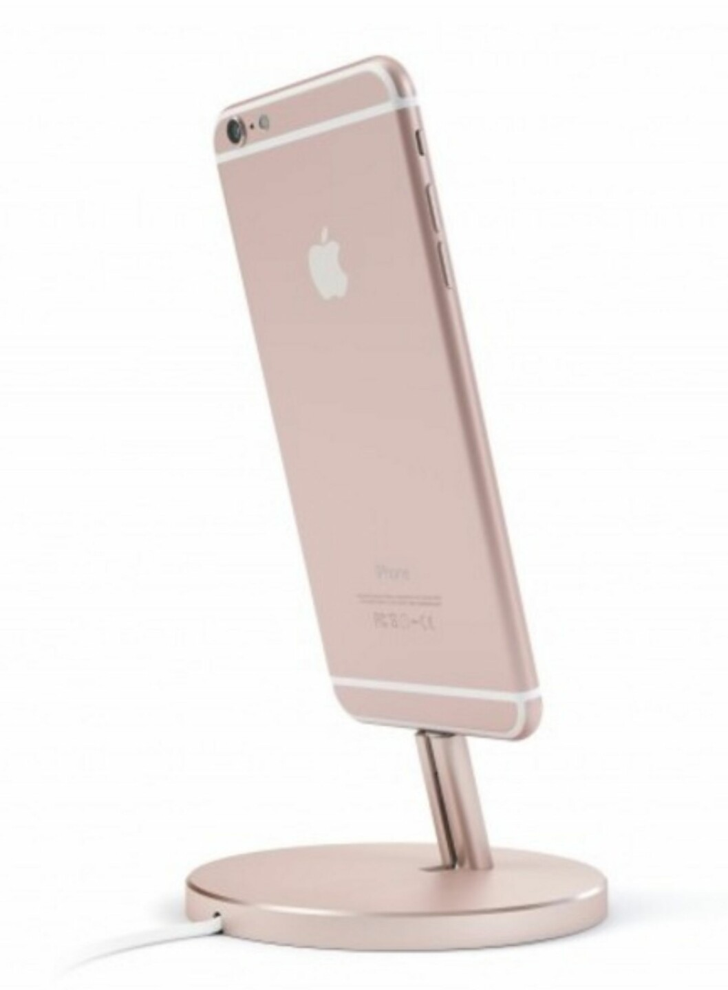 <strong>Ladestasjon for iPhone fra Satechi   kr 214   http:</strong>//www.satechi.net/index.php/satechir-aluminum-desktop-charging-stand-for-iphone-5-5s-5c-6-6s-6-plus-6s-plus-ipod-touch-5g-ipod-nano-7g-rose-gold