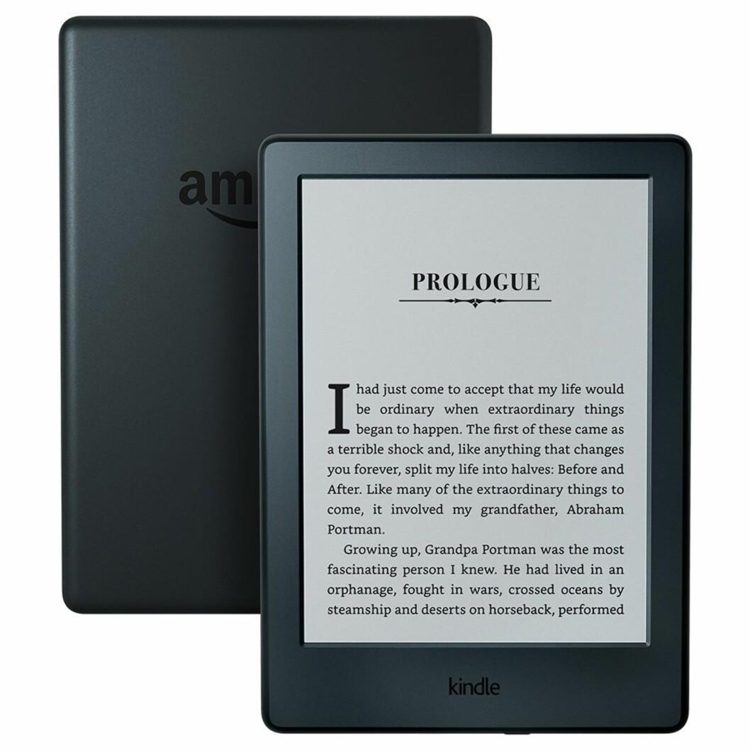 <strong>Kindle E-reader fra Amazon   kr 430   https:</strong>//www.amazon.com/All-New-Kindle-E-reader-Glare-Free-Touchscreen/dp/B00ZV9PXP2