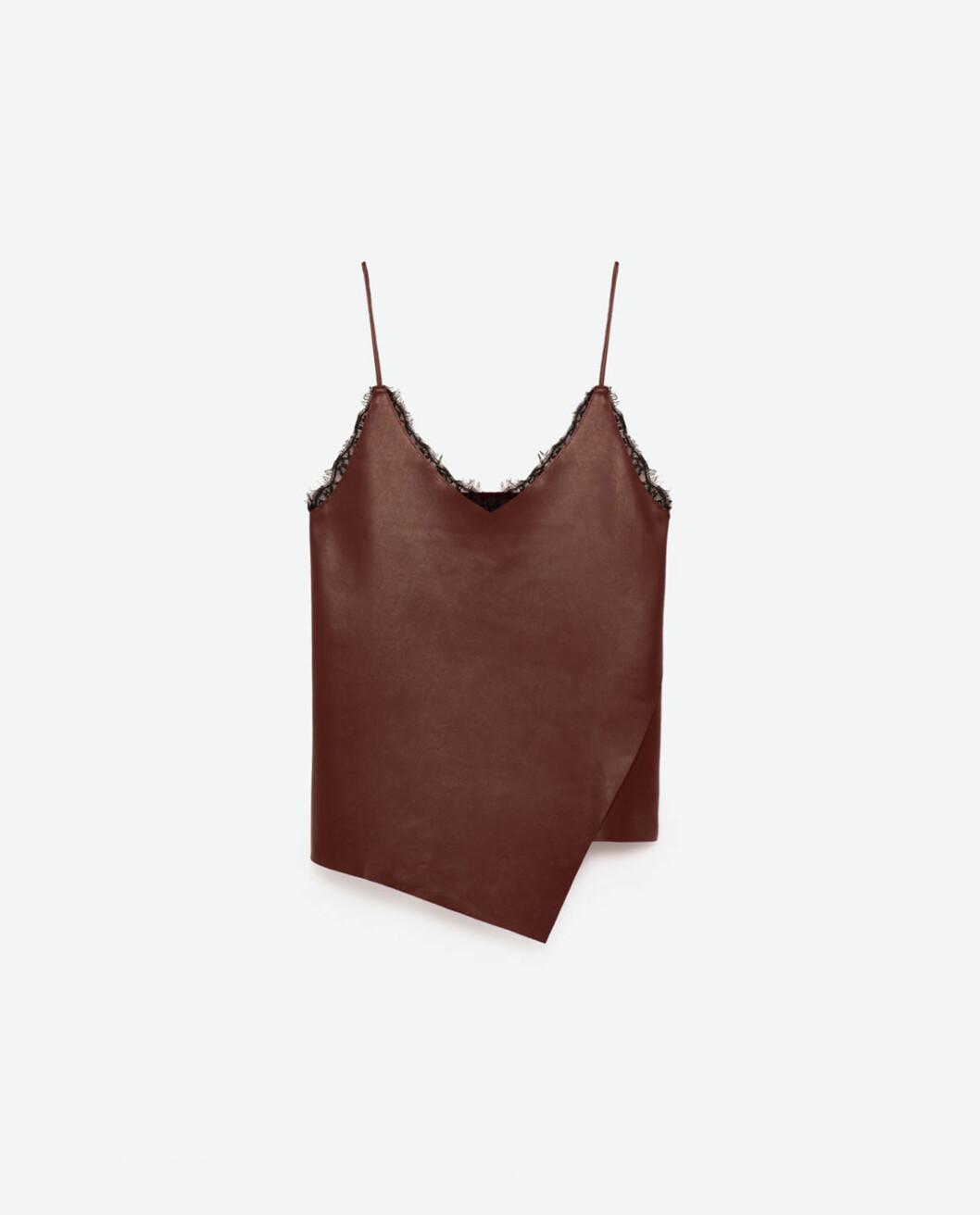 Topp fra Zara | kr 199 | http://www.zara.com/no/no/dame/skjorter/se-alle/blondetopp-med-stropper-c733890p4028002.html