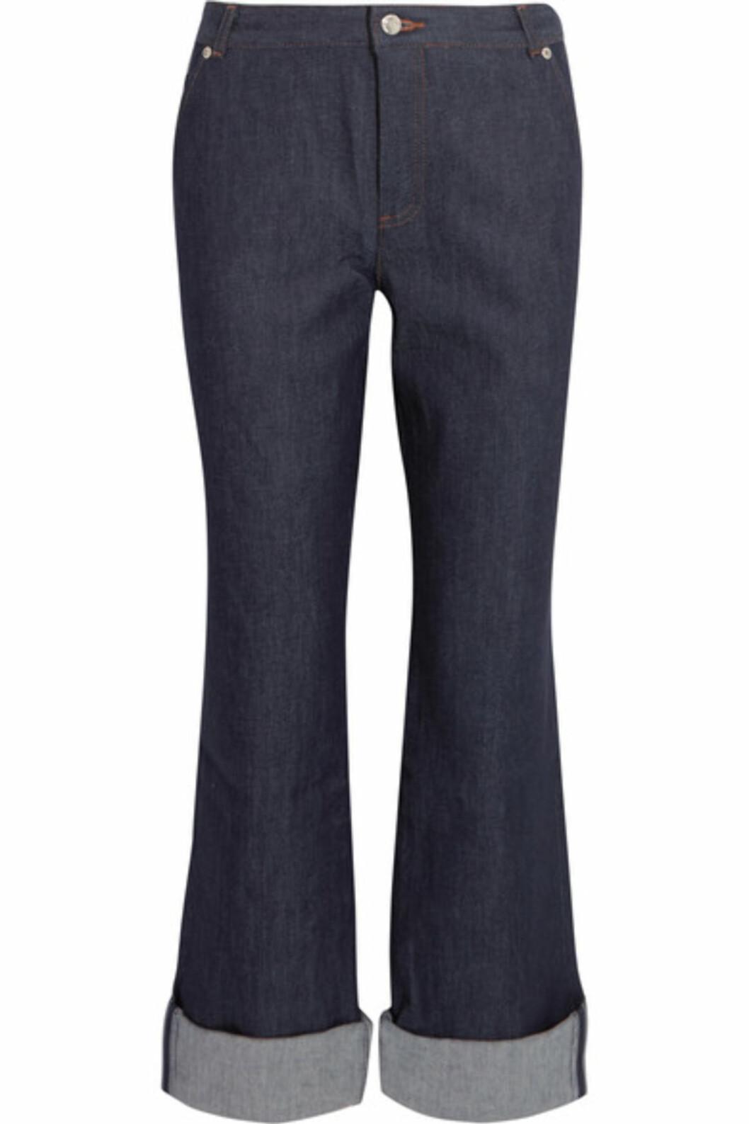 Jeans fra vanessa Seward via Net-a-porter.com | kr 2146 | https://www.net-a-porter.com/no/en/product/755651/vanessa_seward/mobile-cropped-high-rise-straight-leg-jeans
