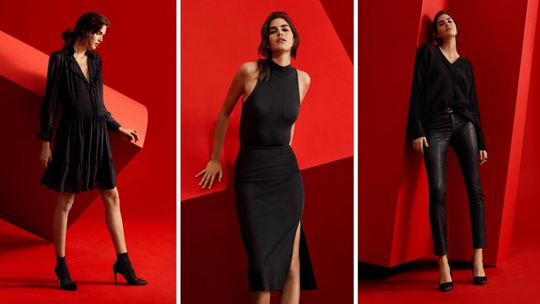 BLACK FRIDAY-KOLLEKSJON: Kjedebutikken H&M har laget en egen kolleksjon til Black Friday som består kun av sorte plagg. Foto: Scanpix