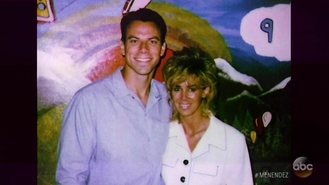 KONA: Erik Menendez med kona Tammi Menendez. De giftet seg i fengselets venterom i 1999. Foto: NTB Scanpix