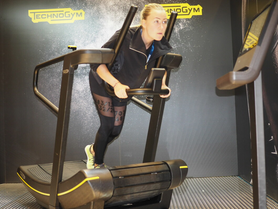 Trener setemuskulaturen: Lener du deg forover mens du skyver godt bak med bena, vil du kjenne det svi i rumpa rimelig fort!