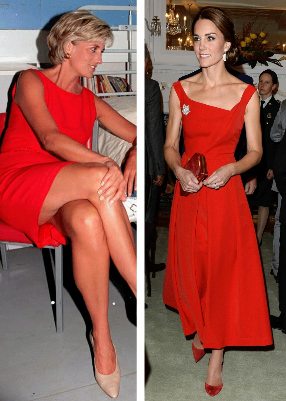 VAKRE DAMER: Folk falt ikke bare for stilen til prinsesse Diana, men også personligheten hennes. Det samme gjelder for Kate! Foto: Scanpix