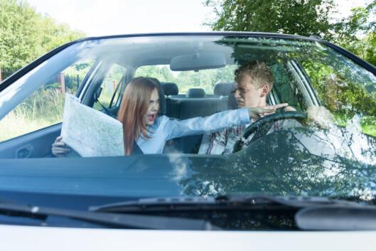 NAVIGERER FORSKJELLIG: Det kan dessverre hende han har rett. Menn viser seg å navigere seg raskere frem til et sted.  Foto: Scanpix