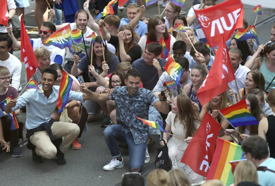 OSLO PRIDE: Al-Musawi anser Oslo Pride som årets høydepunkt, og har sammen med AUF deltatt i toget hvert år.  Foto: Foto: Vidar Ruud / NTB scanpix