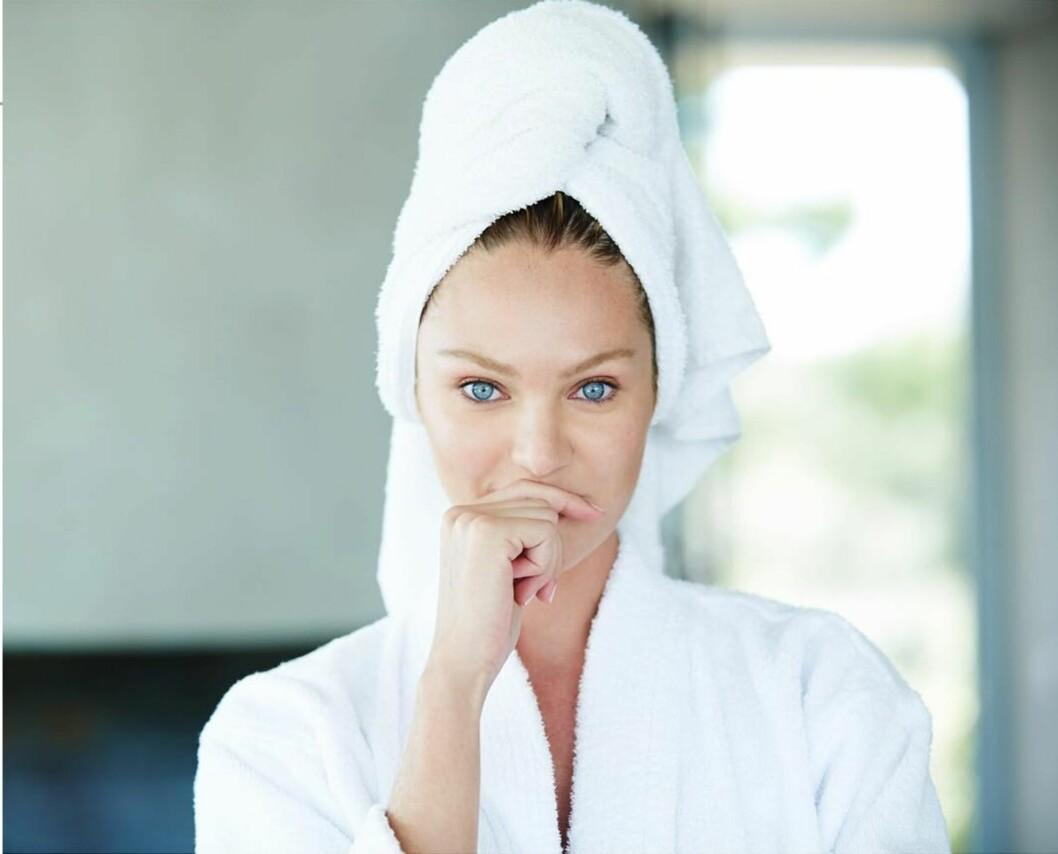SKJØNNHETSRUTINE: Der gir Candice Swanepoel grei beskjed: Hold det enkelt! Foto: SipaUSA